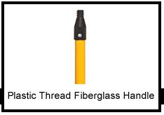 Plastic Thread Fiberglass Handle